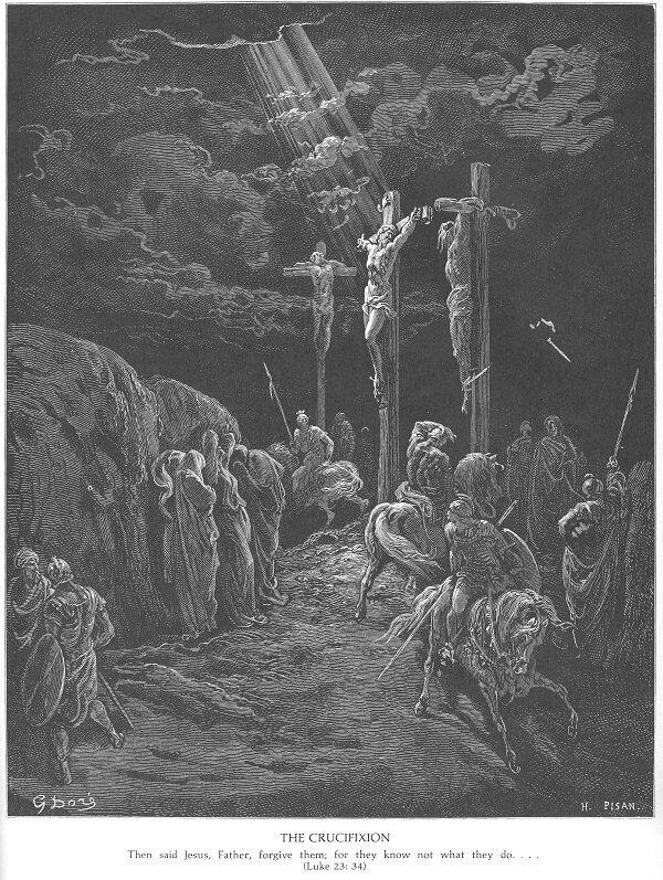 Gustave Dore - Ukrzyżowanie (Łuk. 23:34).