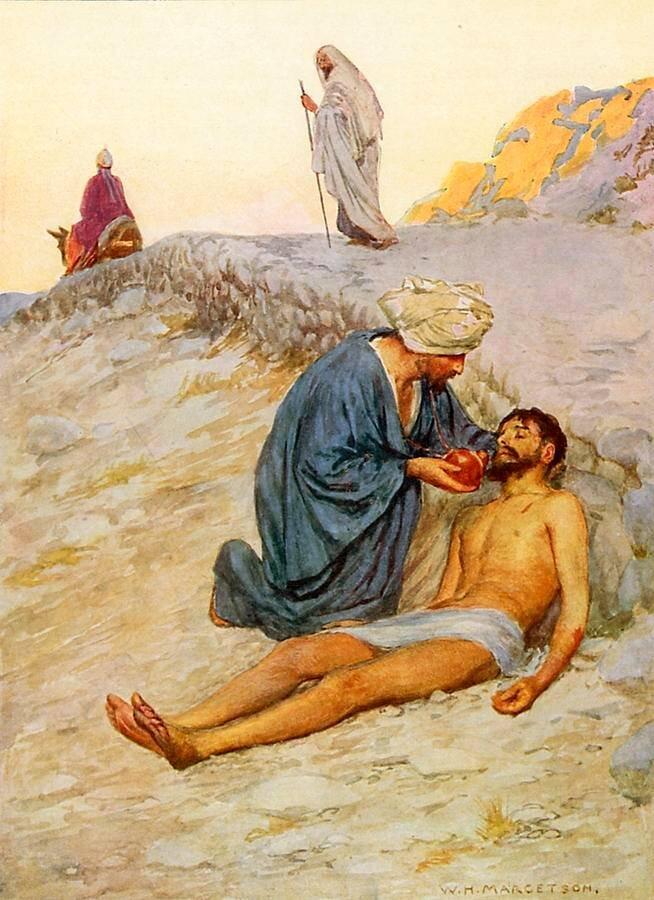Znalezione obrazy dla zapytania: przypowieść o miłosiernym samarytaninie
